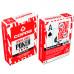 Carti de joc poker, oficiale World Series of Poker - WSOP, de competitie, 100% plastic, index mare, culoare spate rosu