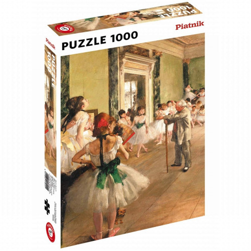 """Puzzle Piatnik """"Edgar Degas - Lectia de dans"""", 1000 piese, dimensiune 68 x 48 cm, produs in Austria"""