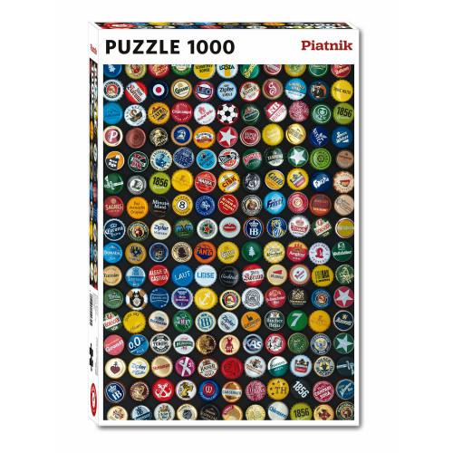 "Puzzle Piatnik ""Capace sticle cu bere"", 1000 piese, dimensiune 68 x 48 cm, produs in Austria"