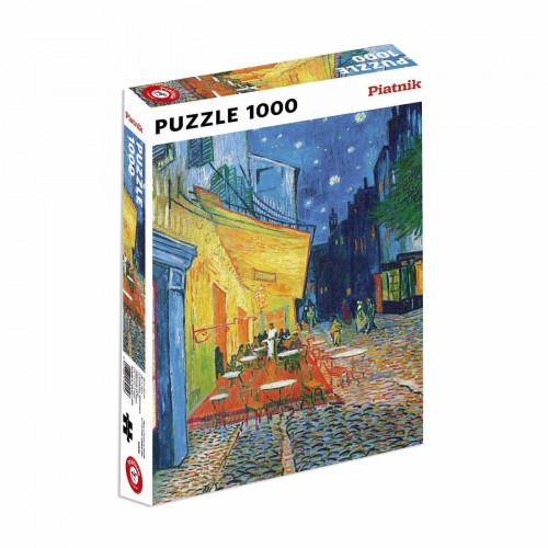 "Puzzle Piatnik ""Vincent van Gogh - Terasa de cafenea seara"", 1000 piese, dimensiune 68 x 48 cm, produs in Austria"